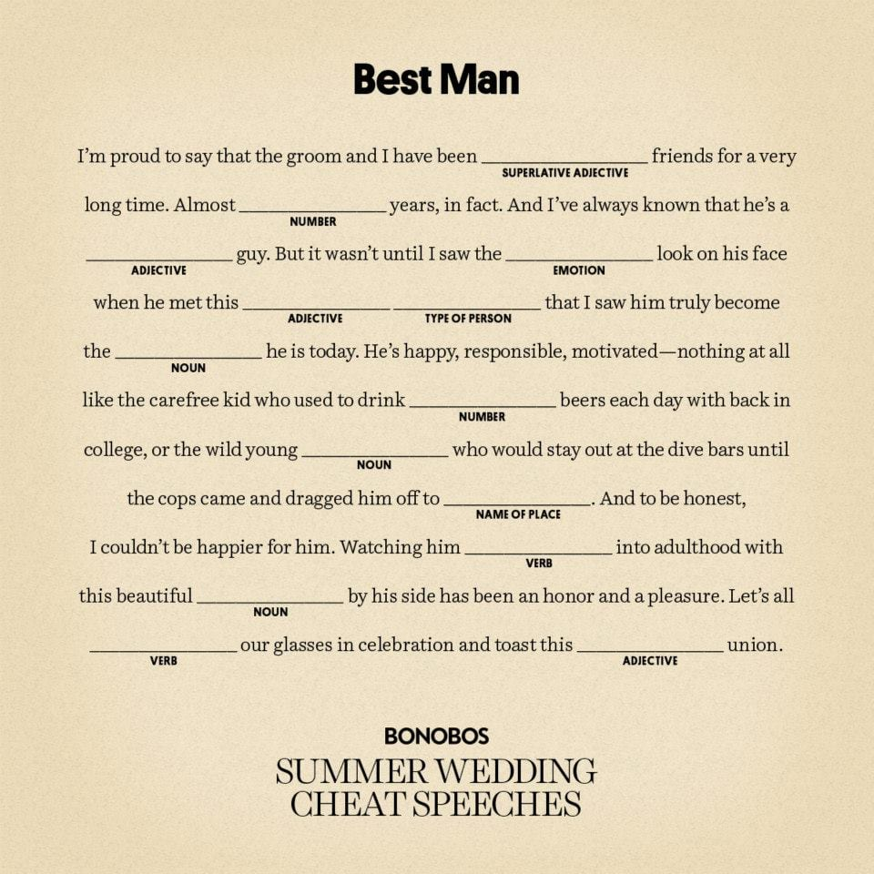 best best man speech 2015, 2016