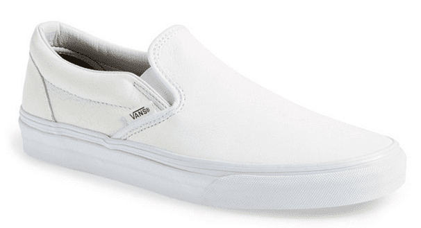 classic white leather vans slip ons shoes for men