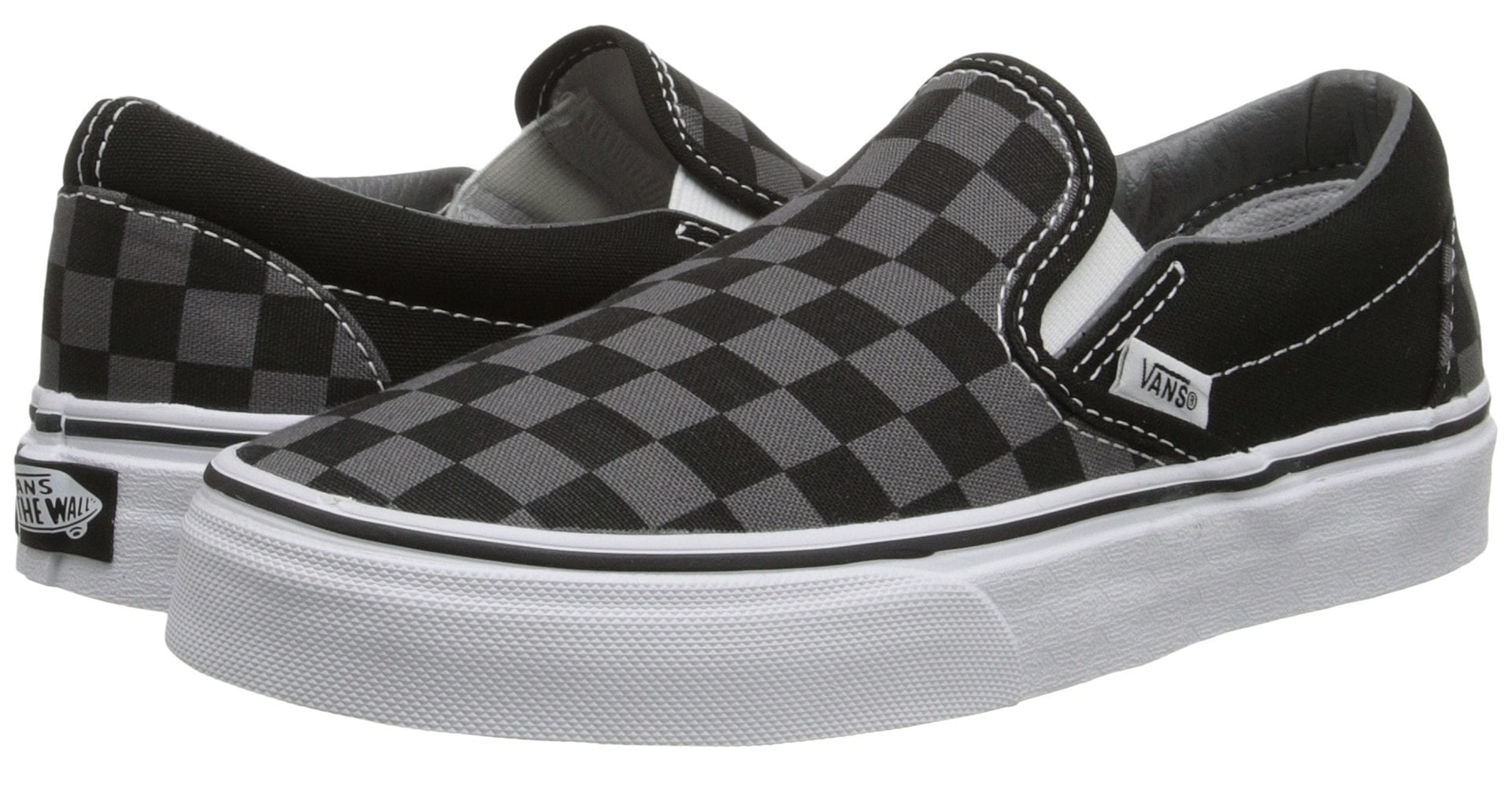 Mens Van Shoes 2017: Black Checkerboard Slip Ons