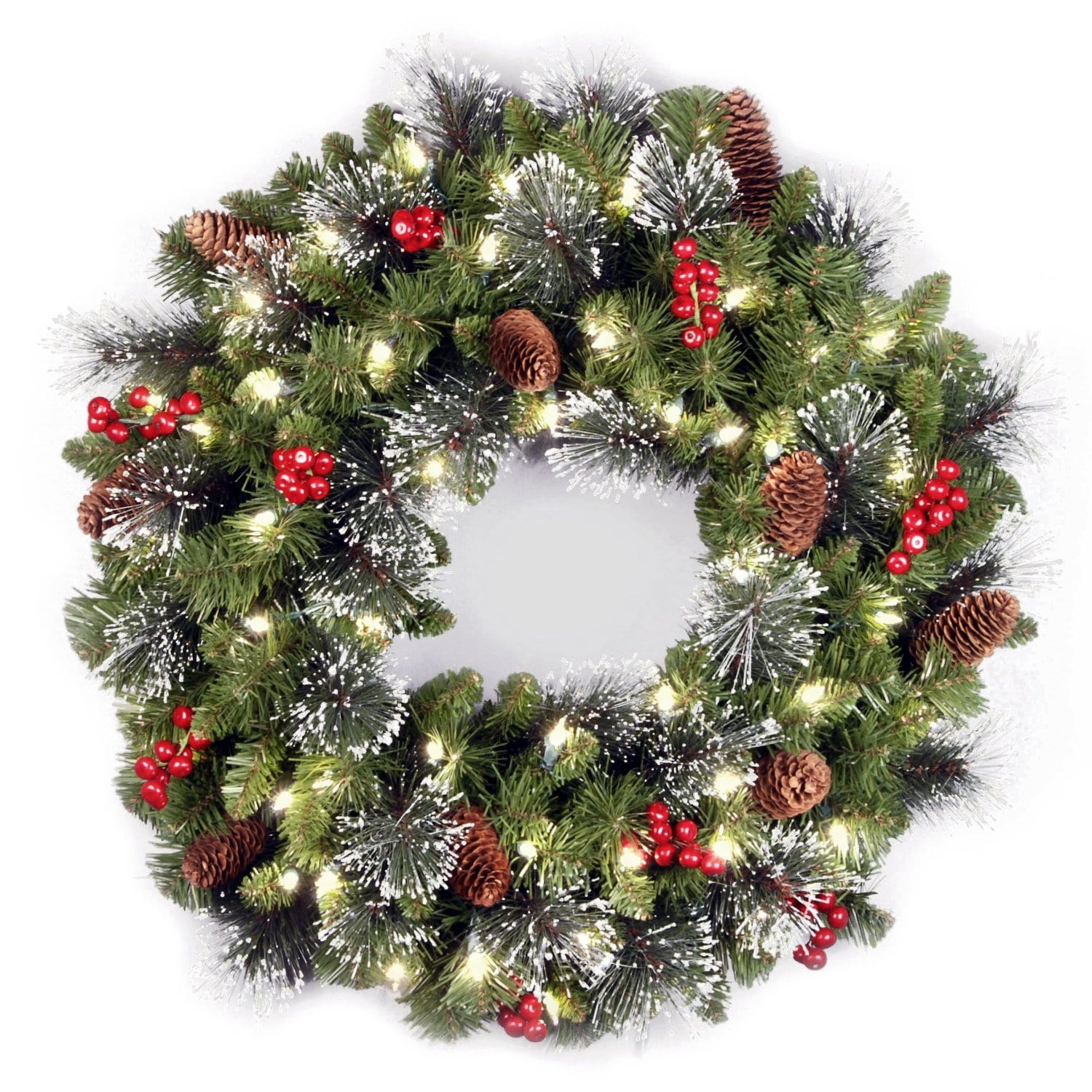 24 inch crestwood spruce decorated wreath buy it here for 25 best christmas wreaths - Artificial Christmas Wreaths Decorated